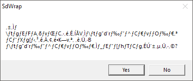 SdWrap error