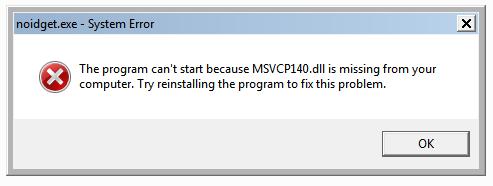 MSVCP140.dll error